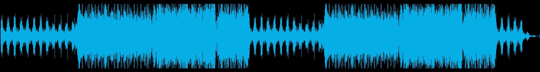 迫力あるパーカッションのストリングスの曲の再生済みの波形