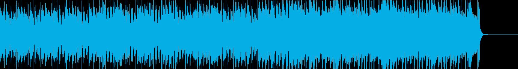 落ち着いたオシャレなアコースティックな曲の再生済みの波形