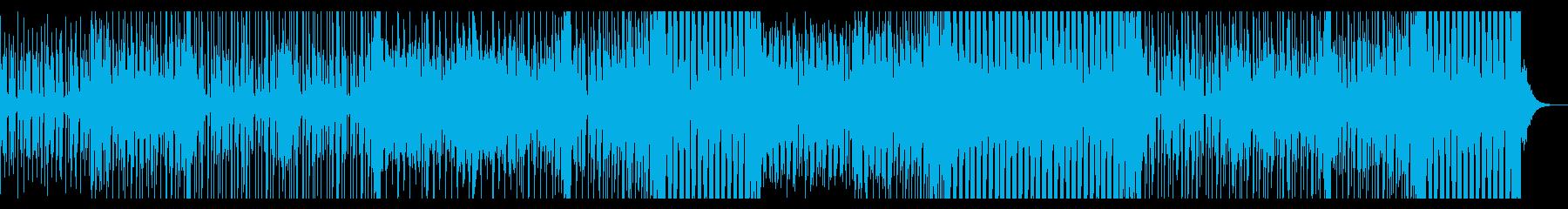 隠していた感情が一気に爆発する様なEDMの再生済みの波形