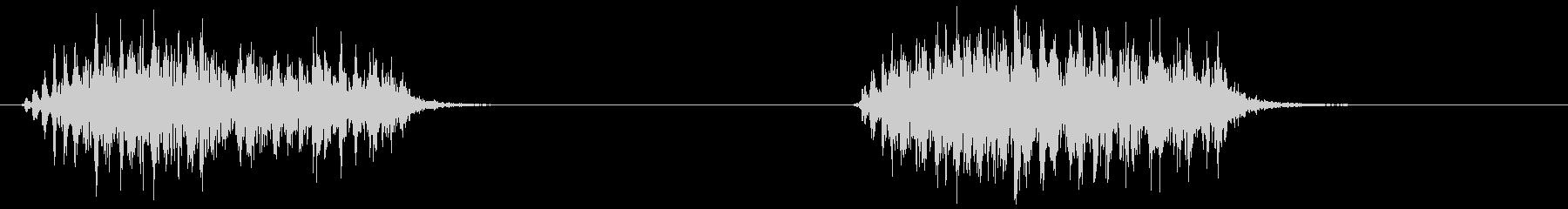 カラス (ガアーッ、ガアーッ)の未再生の波形