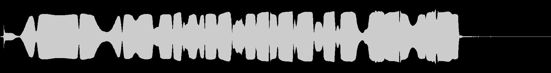 消磁器のバズとスローブ、近い視点の未再生の波形
