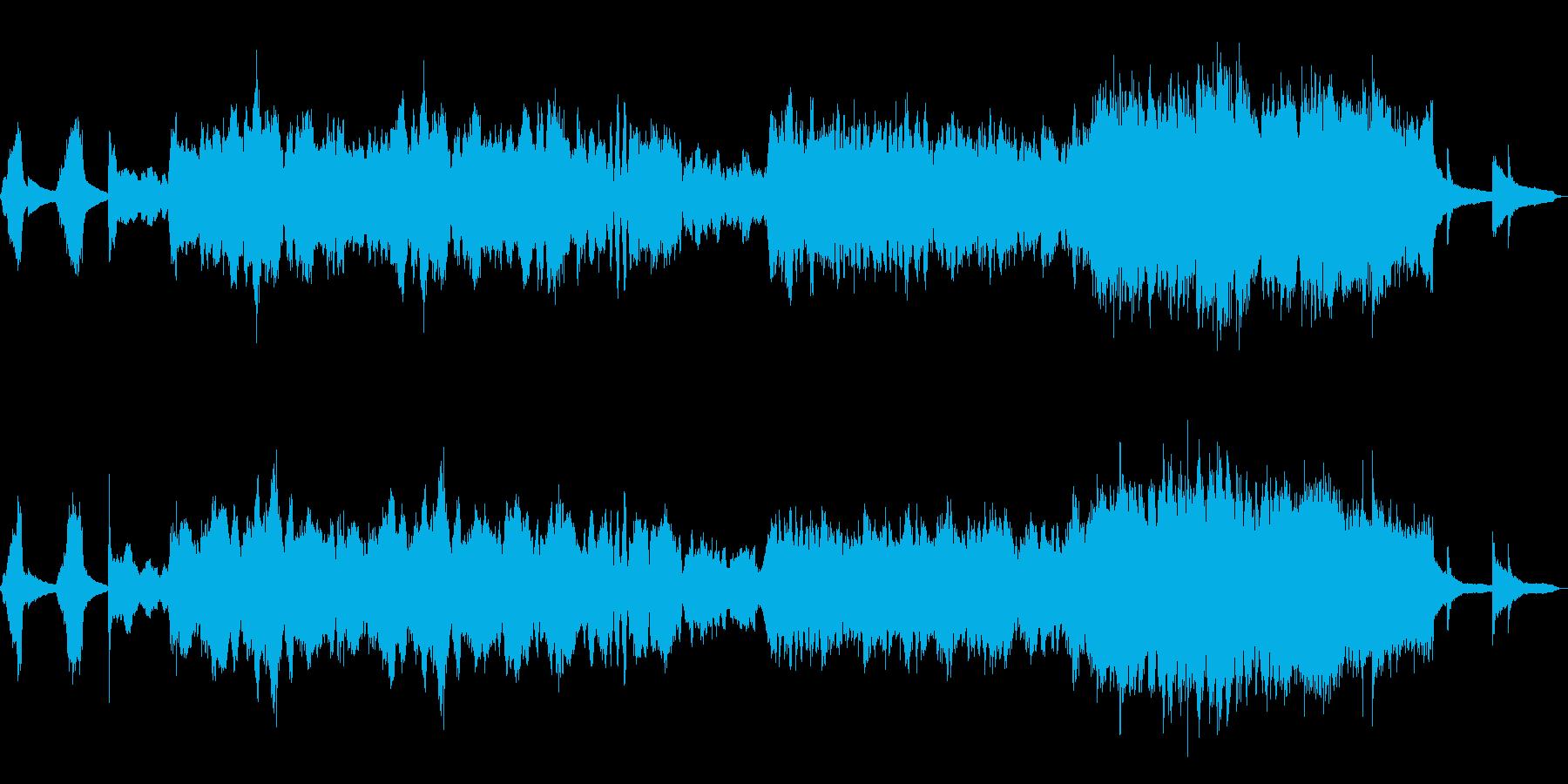 絶望感あふれるストリングスの再生済みの波形