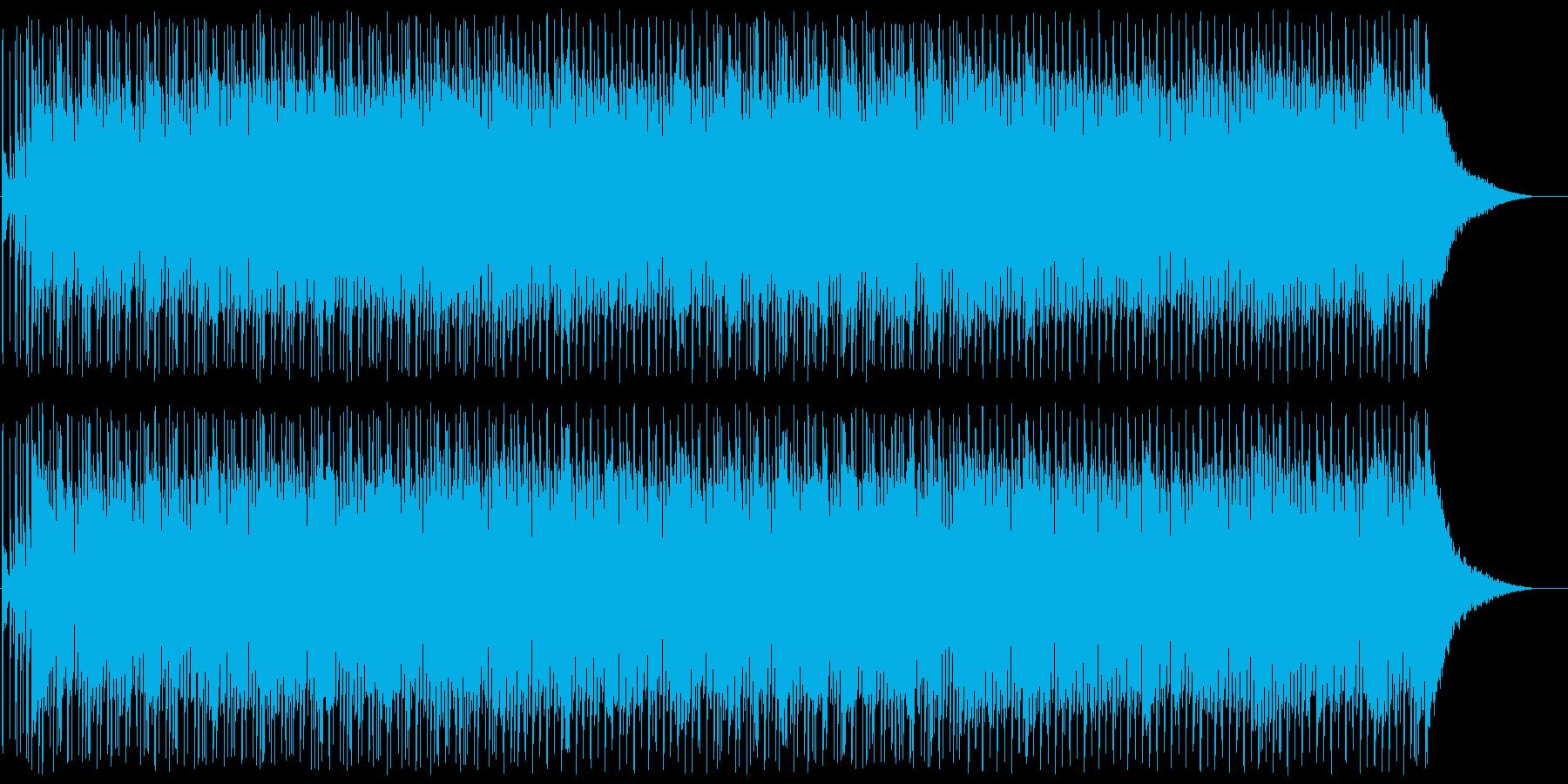 シックで少し緊迫感のあるテクノの再生済みの波形