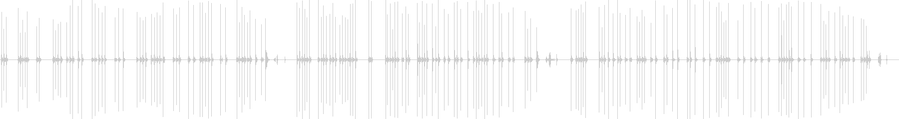 クラシックタイプライターの入力(中速)の未再生の波形