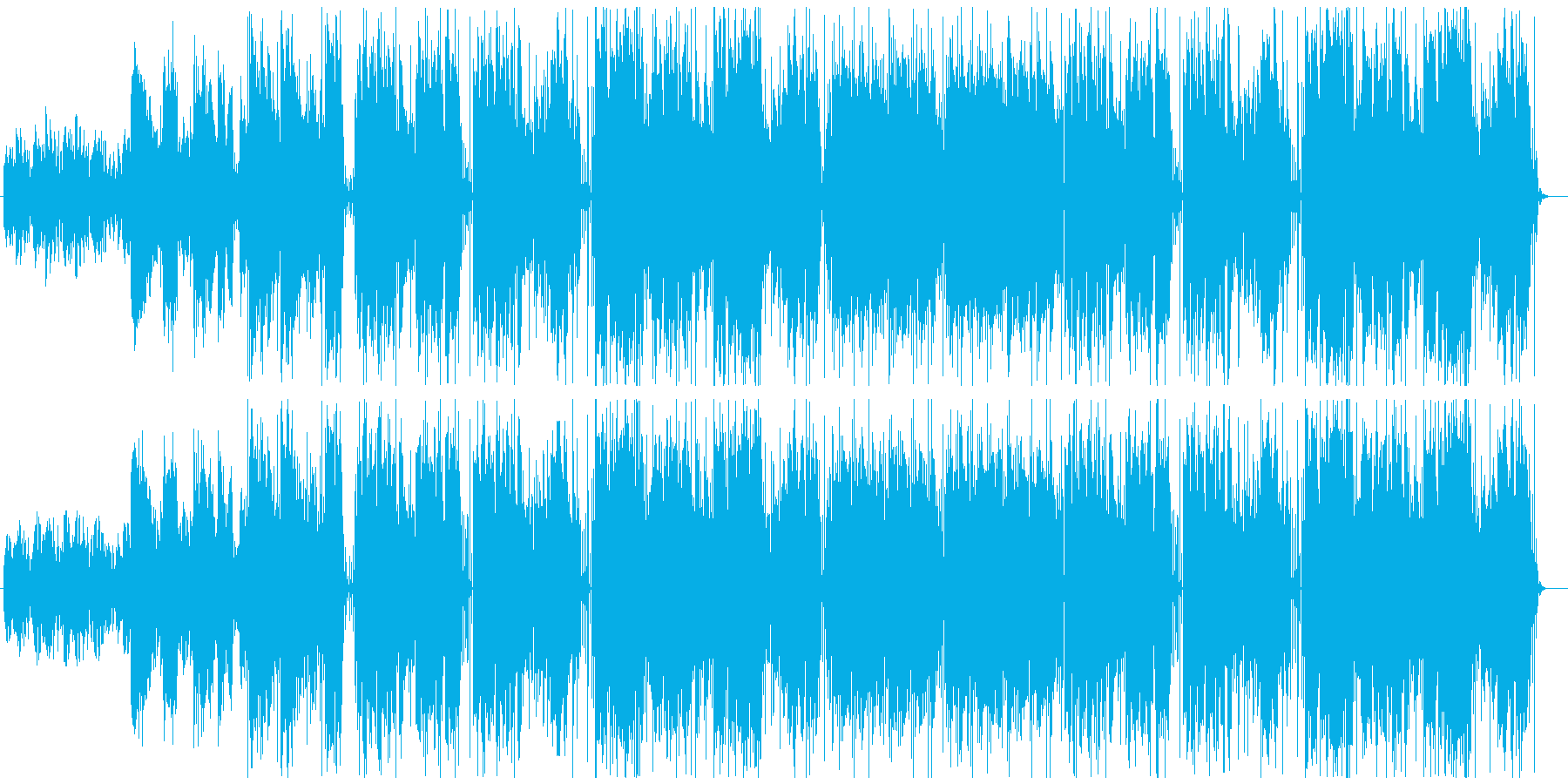 静かな英語詞女性Voバラードの再生済みの波形