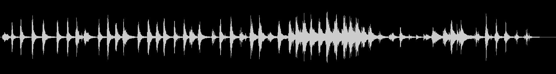 pieces of echoの未再生の波形