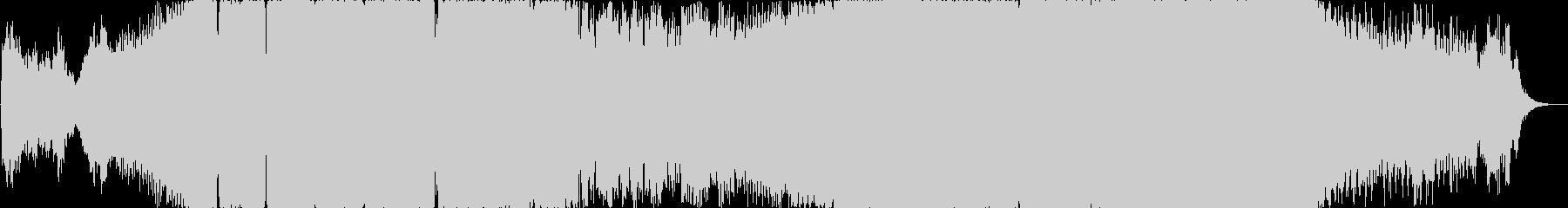 ガバキックとシンセリードが特徴の激しい曲の未再生の波形