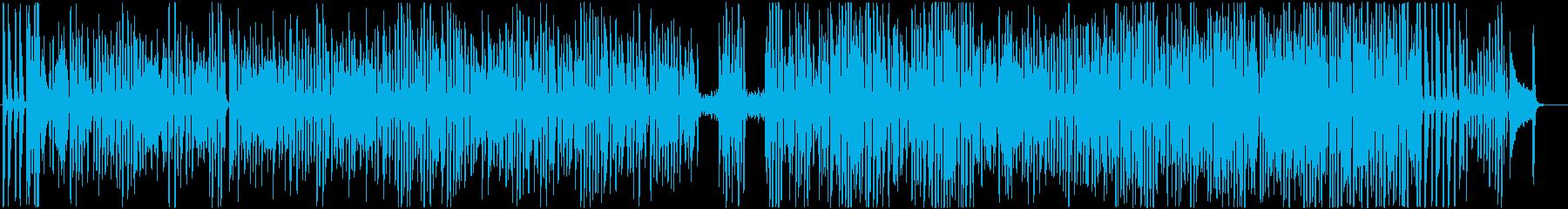 ワクワク楽しいピアノソロのラグタイムの再生済みの波形