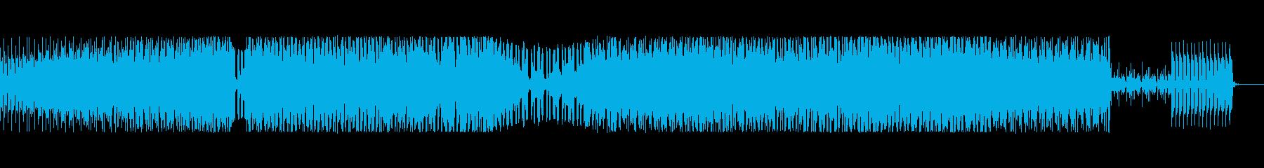 前進感のある軽快なテクノの再生済みの波形