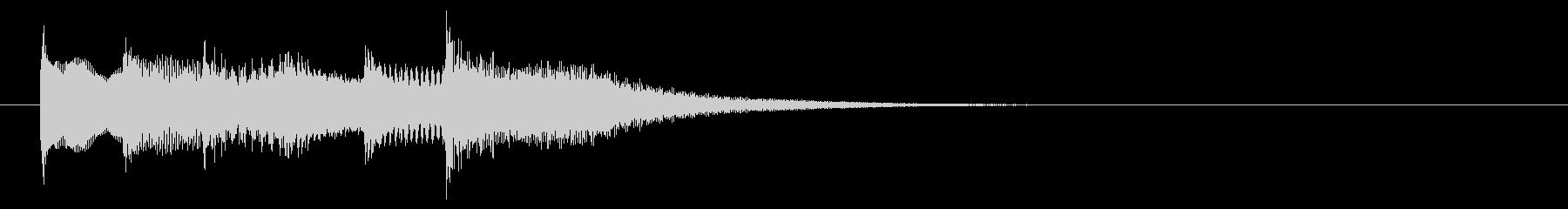 柔らかいオルガンのサウンドロゴの未再生の波形