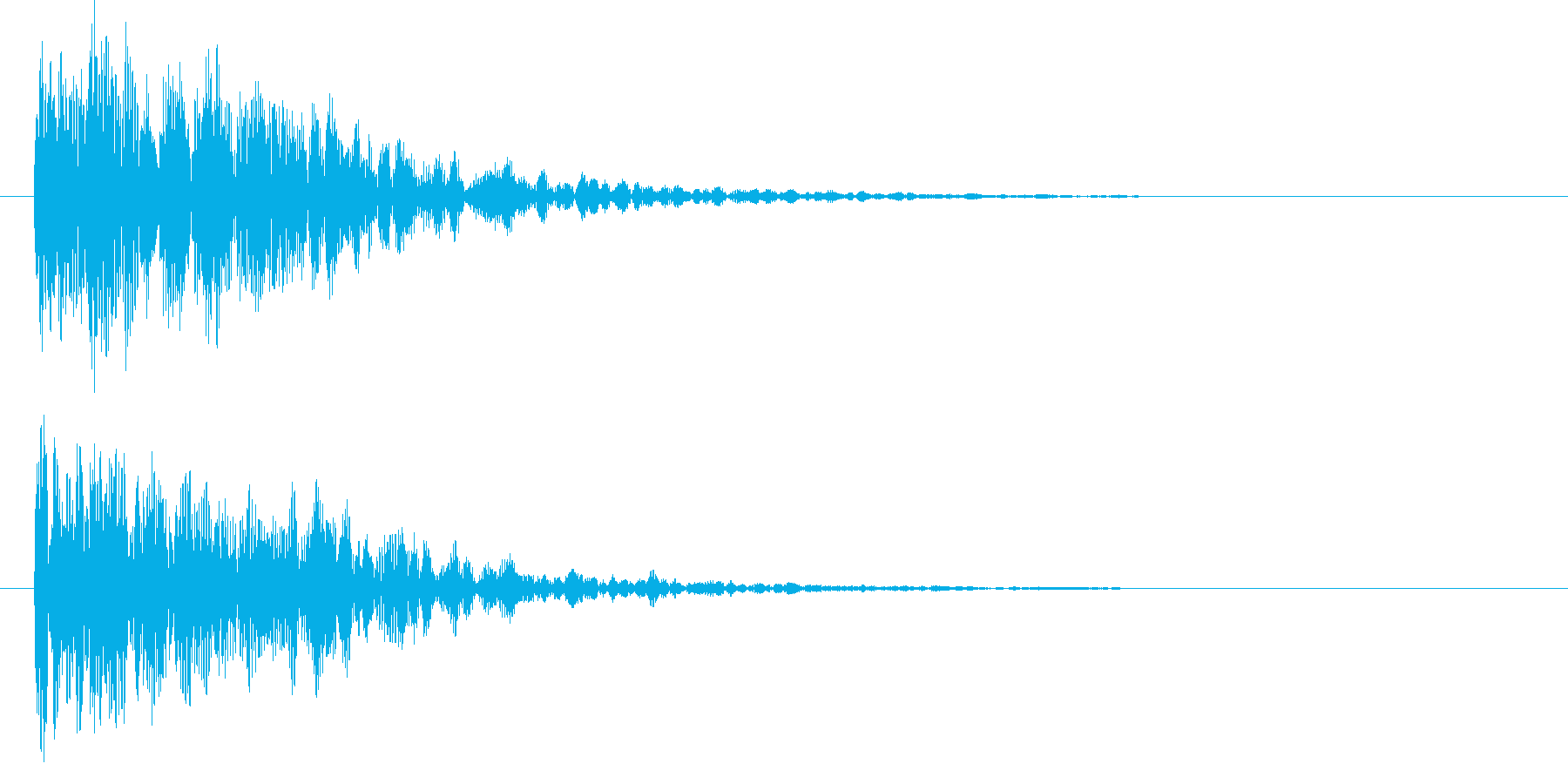 映画告知音153 ドーンの再生済みの波形