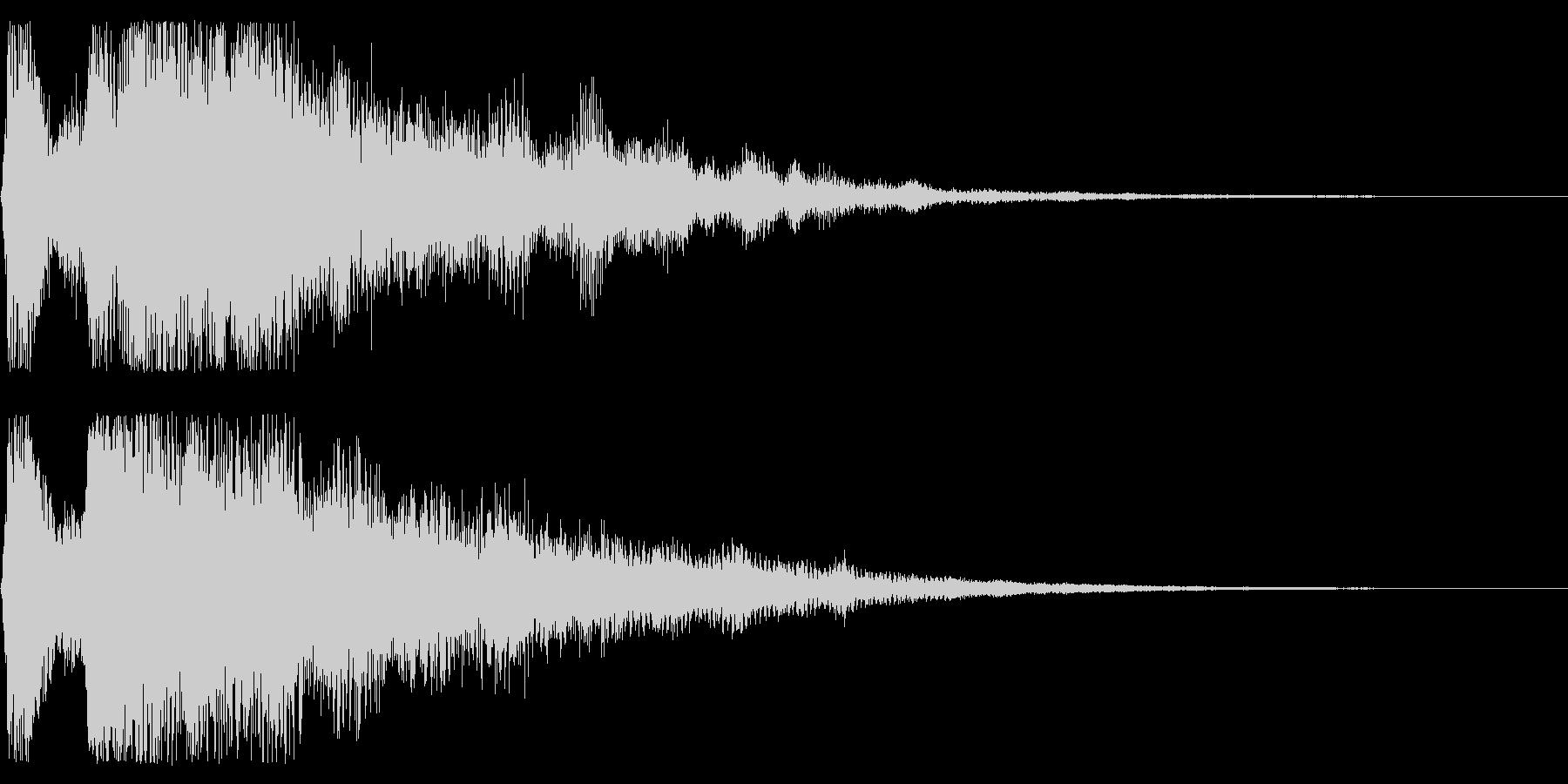 レトロなゲームクリア音 ステージクリアの未再生の波形
