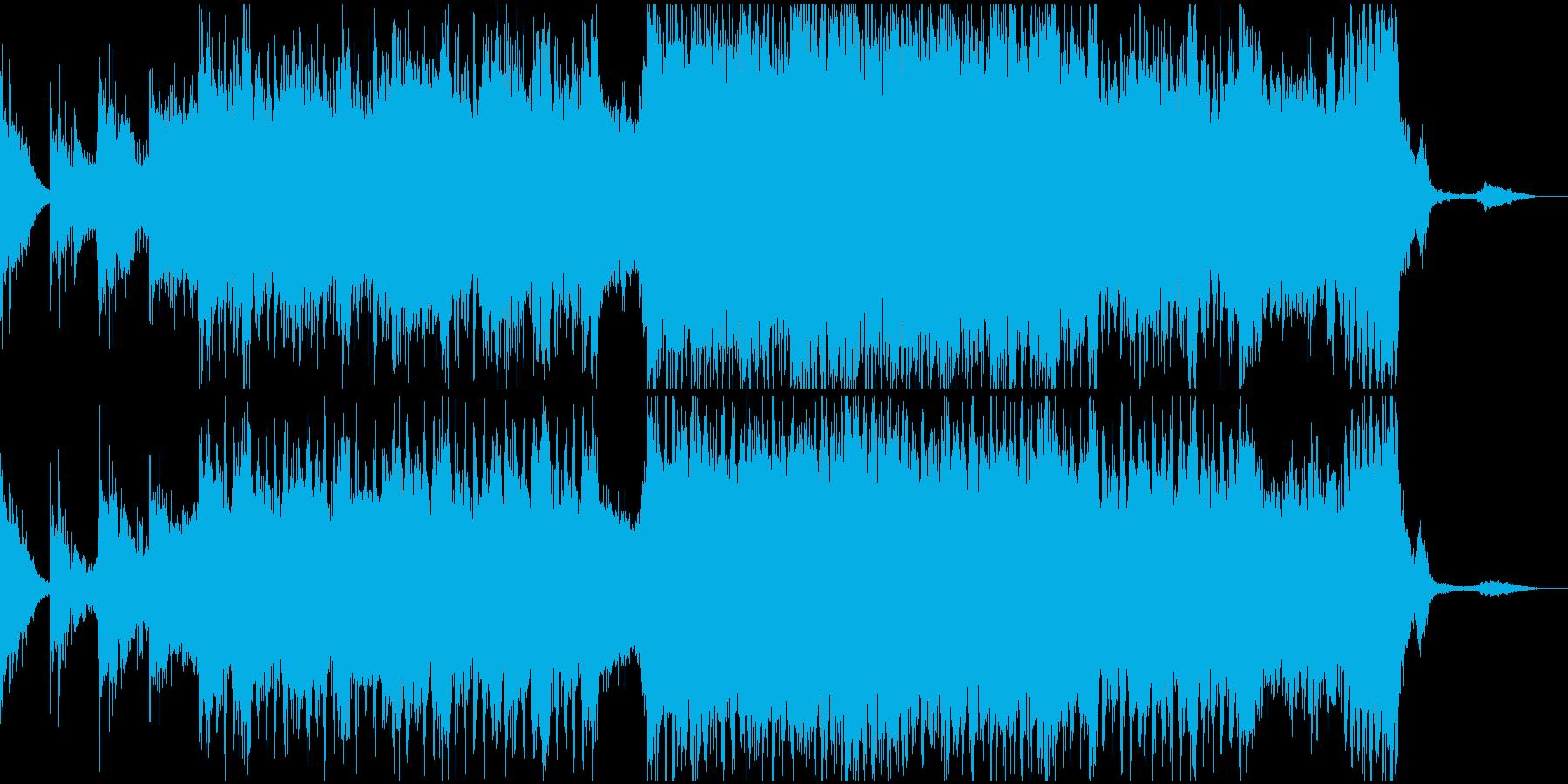 壮大な展開を予感させるトレイラー風な曲の再生済みの波形
