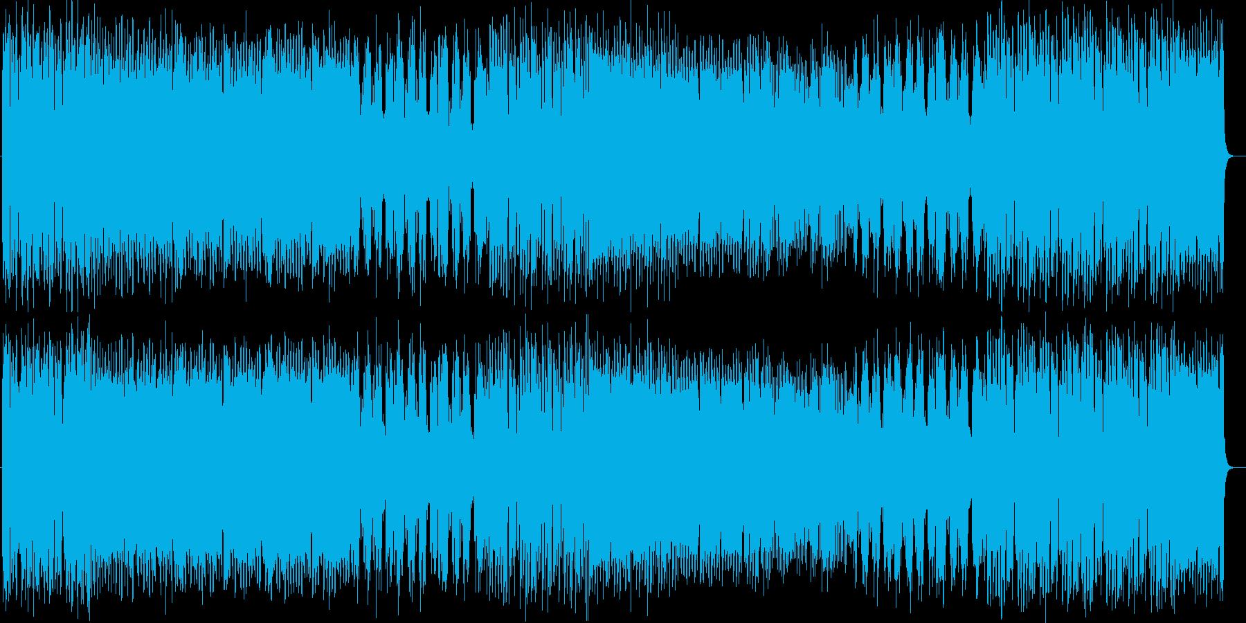 ポップで楽しいピアノとシンセの曲の再生済みの波形