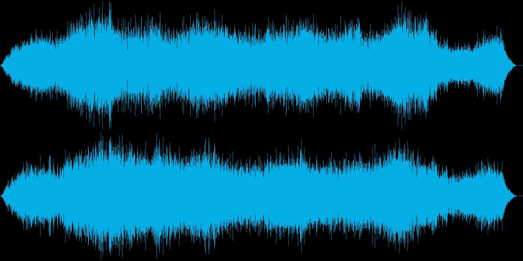 ホラー作品用のBGMですの再生済みの波形