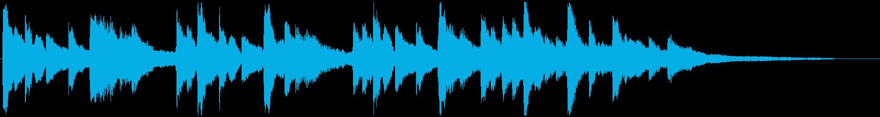 ゆったり優しいピアノのジングル 30秒の再生済みの波形