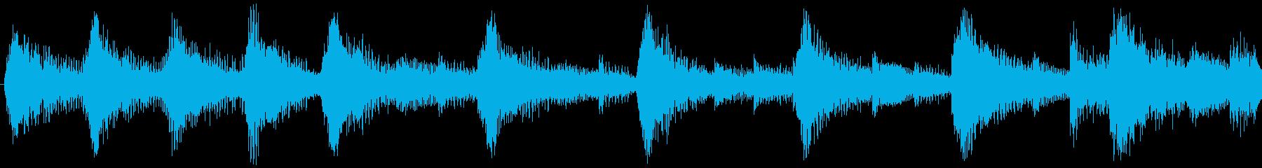 ハローウィン用のホラー曲-ループ5の再生済みの波形
