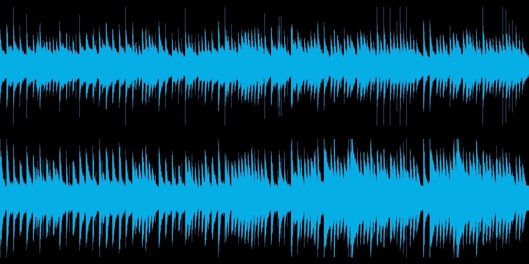 鉄琴のBGM(ループ)の再生済みの波形