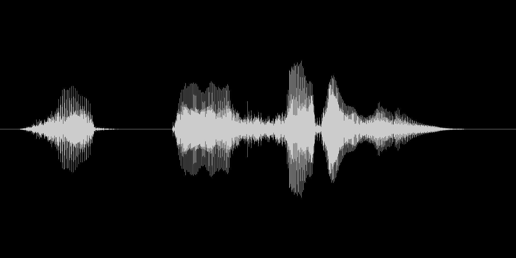 ハッピーハロウィン(落ち着いた男の子)の未再生の波形