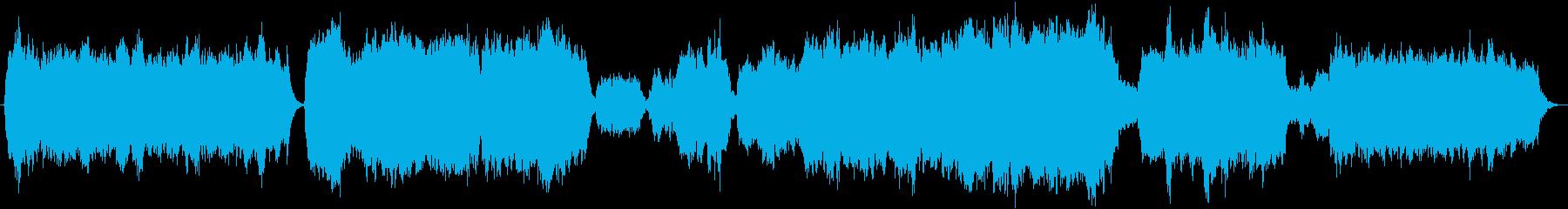 弦楽とパイプオルガンによる讃美歌風BGMの再生済みの波形