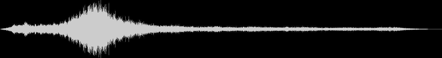 【環境音】飛行機の離陸と波音06の未再生の波形