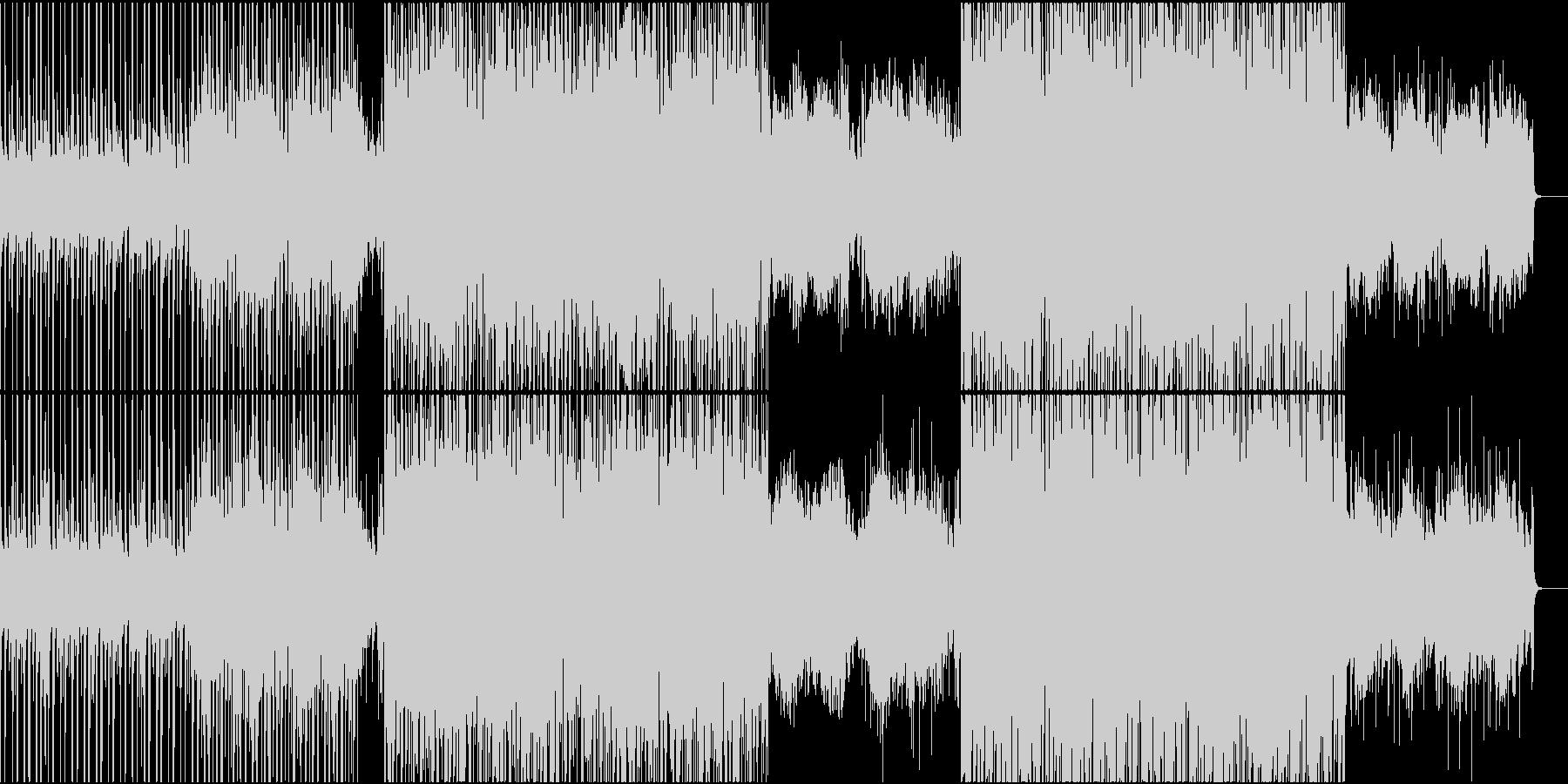 妖しい感じの民族音楽と電子音の未再生の波形