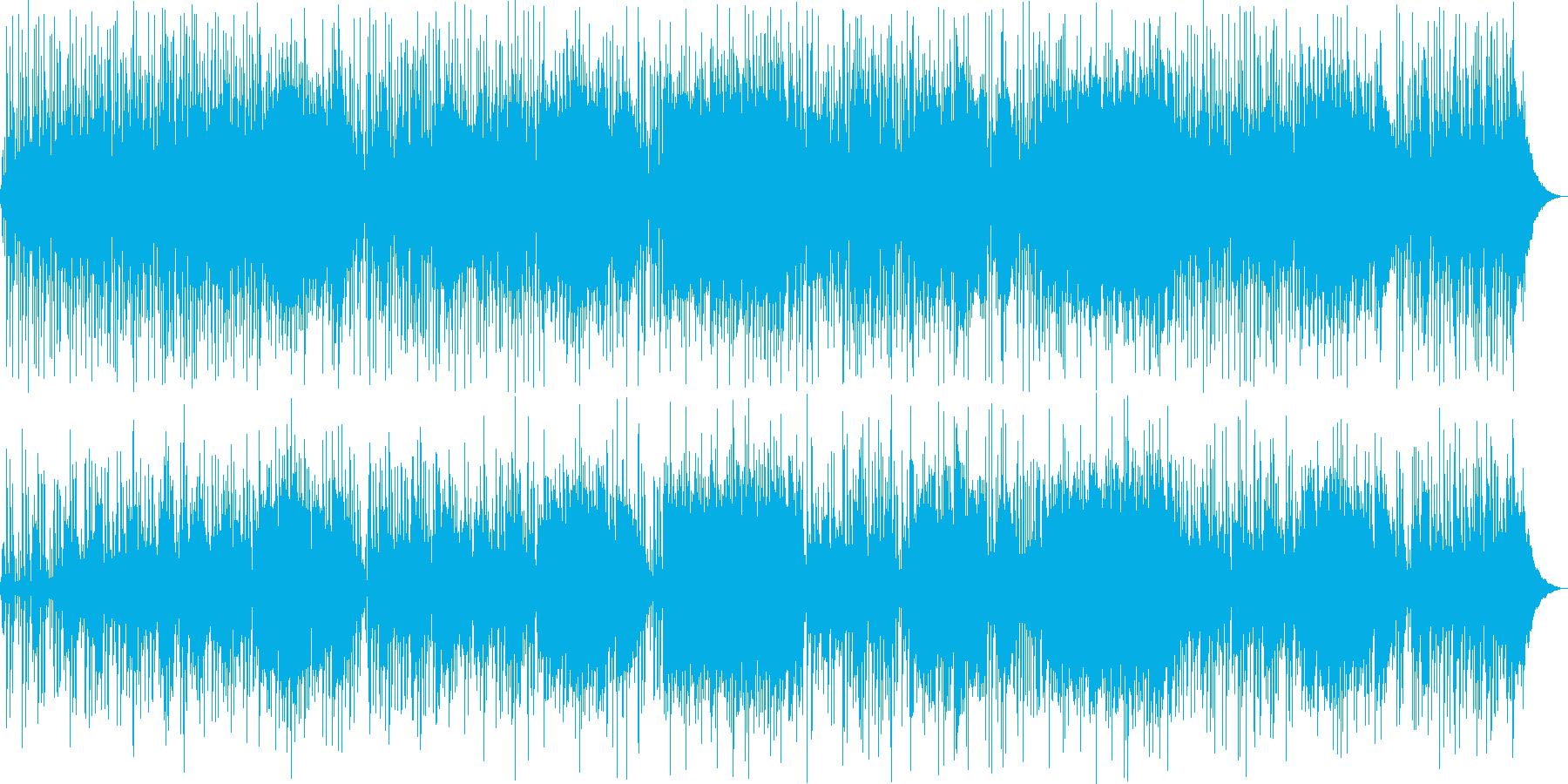 爽やかなギター・シンセサイザーサウンドの再生済みの波形