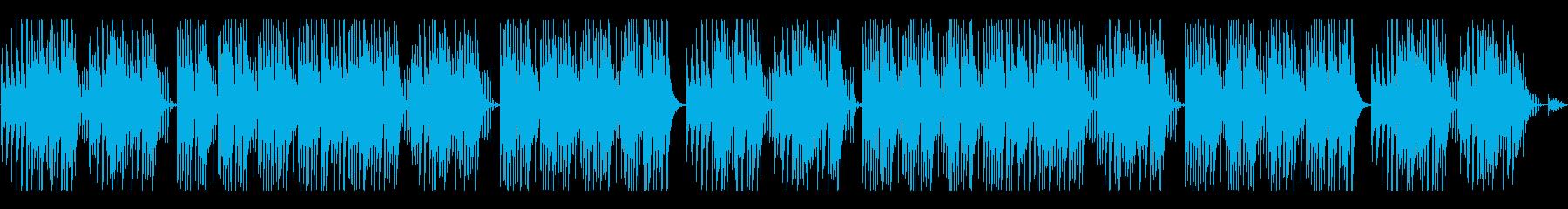 キュートでほのぼのした楽曲B:編集2の再生済みの波形