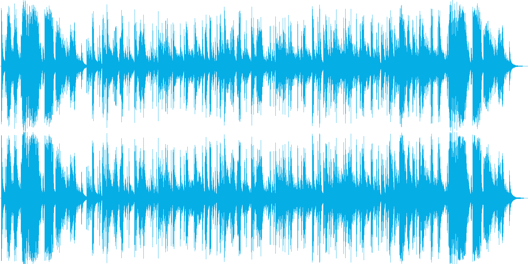 ロマンチックでエレガントなピアノソロ曲の再生済みの波形