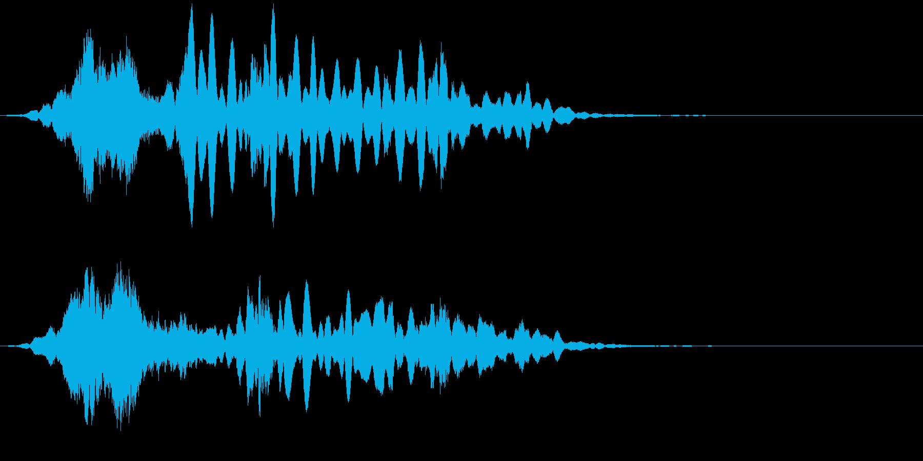 【アンビエント】ベル_移り変わりの再生済みの波形