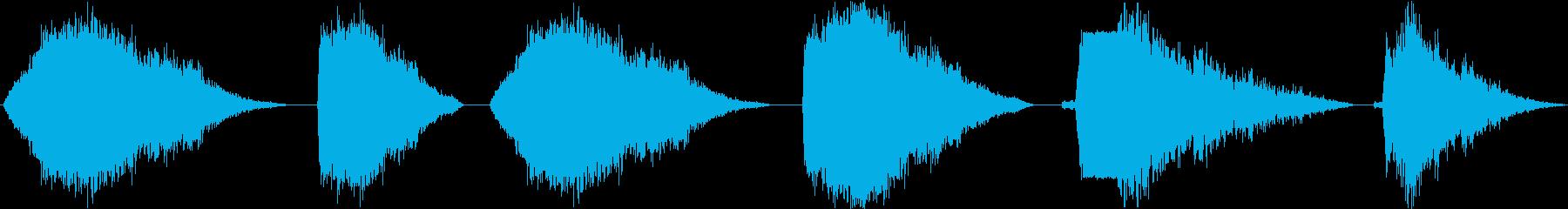 スペースレーザー分解ブラスト、6バ...の再生済みの波形