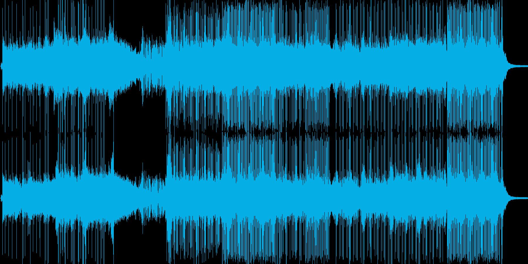 ギター控えめな和風ロック/メタルの再生済みの波形
