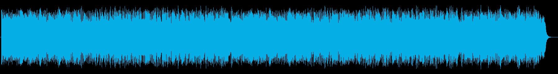 夕方と夜をつなぐ宇宙的なリズミック音楽の再生済みの波形