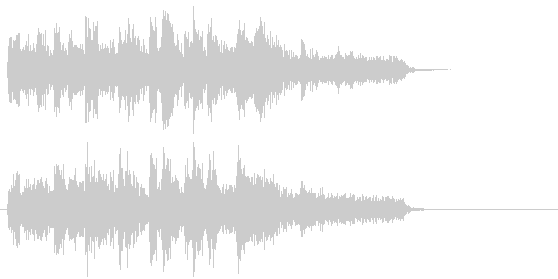 ジャズのジングル、軽快ミディアムテンポの未再生の波形
