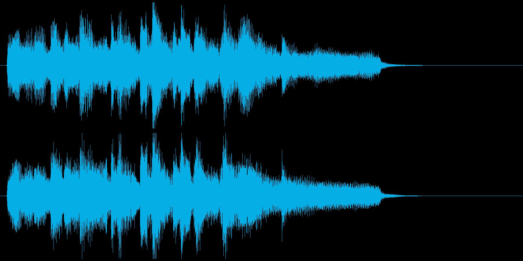 ジャズのジングル、軽快ミディアムテンポの再生済みの波形