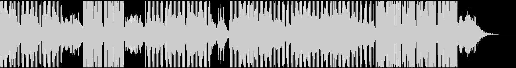応援歌的なテクノサウンドの未再生の波形