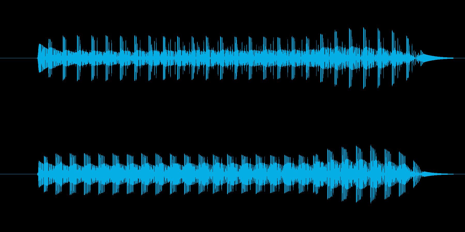 ゲーム、クイズ(ブー音)_009の再生済みの波形