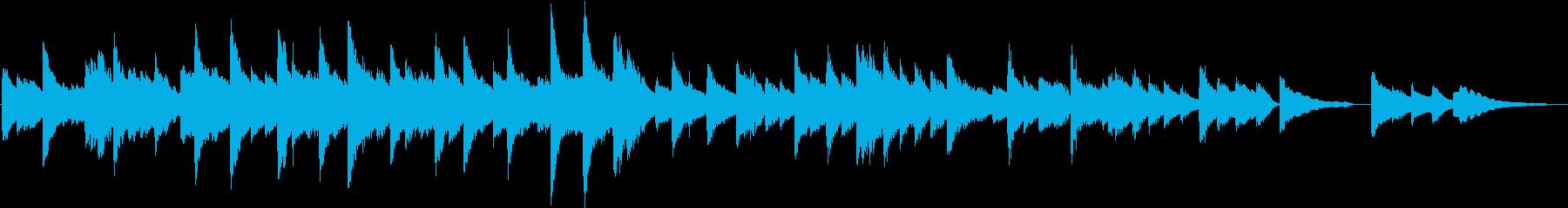 感動的なピアノ曲の再生済みの波形