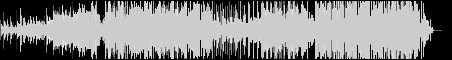 映像に合う無機質なシンセサウンドの未再生の波形