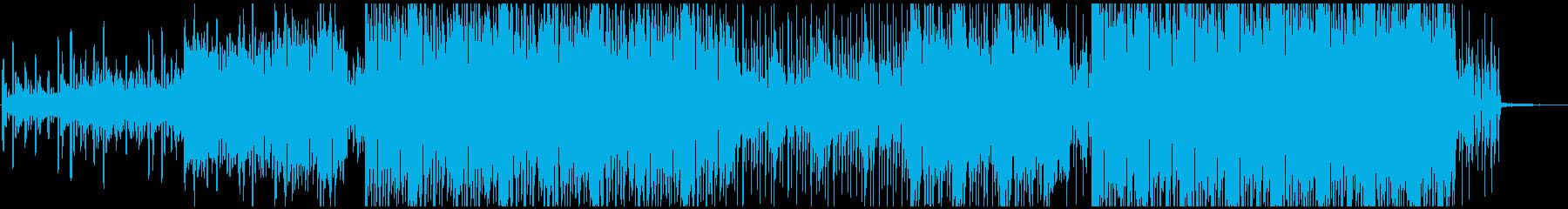 映像に合う無機質なシンセサウンドの再生済みの波形