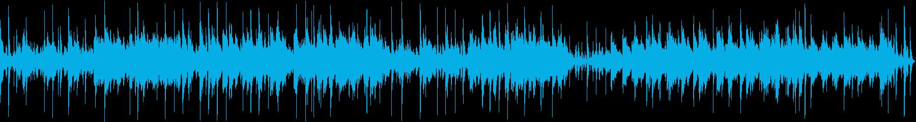 水琴窟とシンセサイザーのハーモニーの再生済みの波形