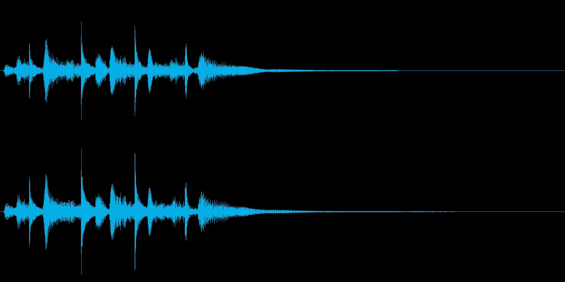 アコースティックギターのジングルの再生済みの波形