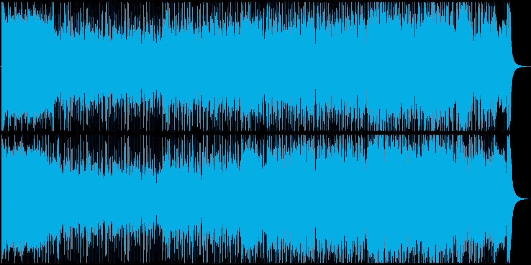 アニメやゲームのOP風 キャッチーな曲の再生済みの波形