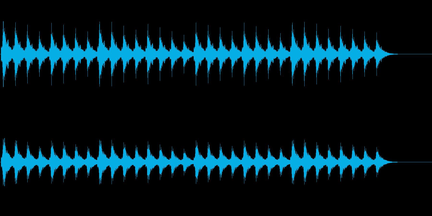 クリスマスの背景音に(スレイベル)の再生済みの波形