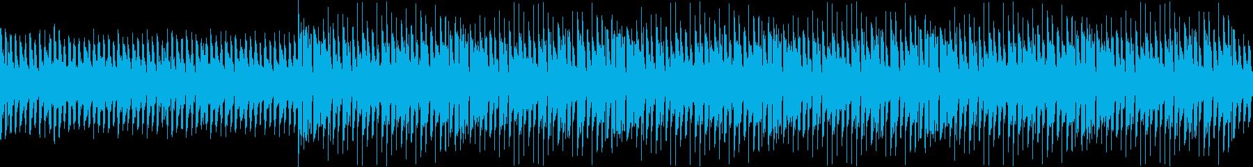 サイバーシティーを連想させるビートの再生済みの波形