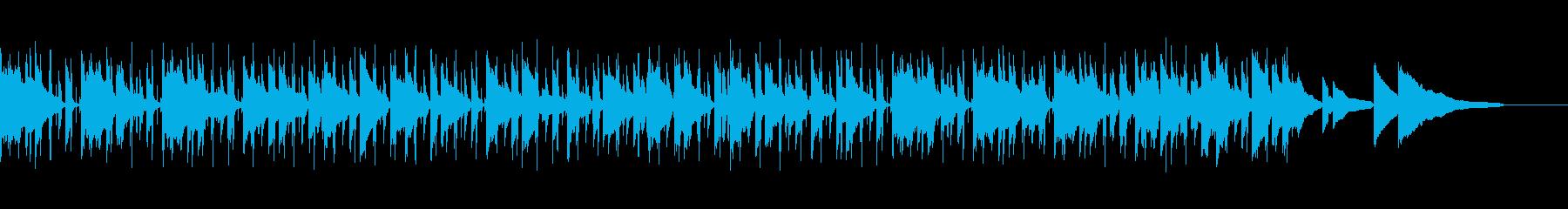 ゆったりと落ち着いた雰囲気のBGMの再生済みの波形