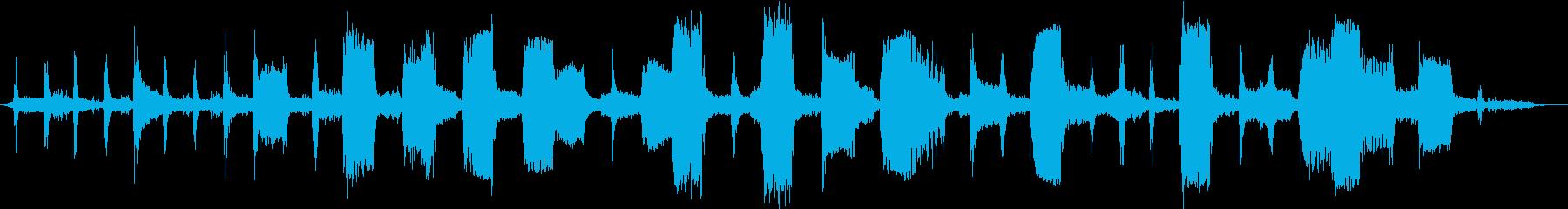 スキャナーのリズムプラッキング干渉の再生済みの波形