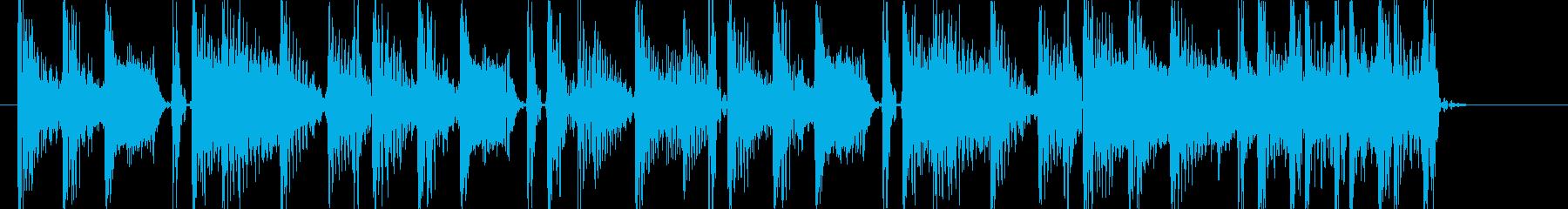 ローファイヒップホップなアイキャッチの再生済みの波形
