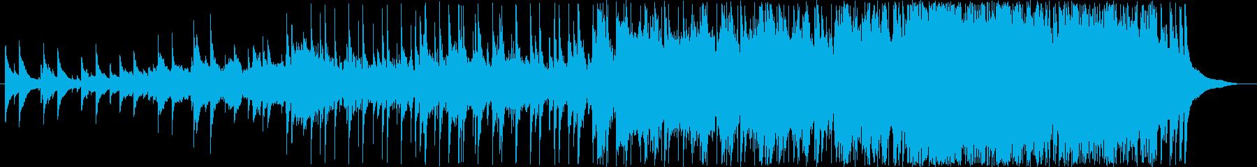 荘厳なロックインストの再生済みの波形