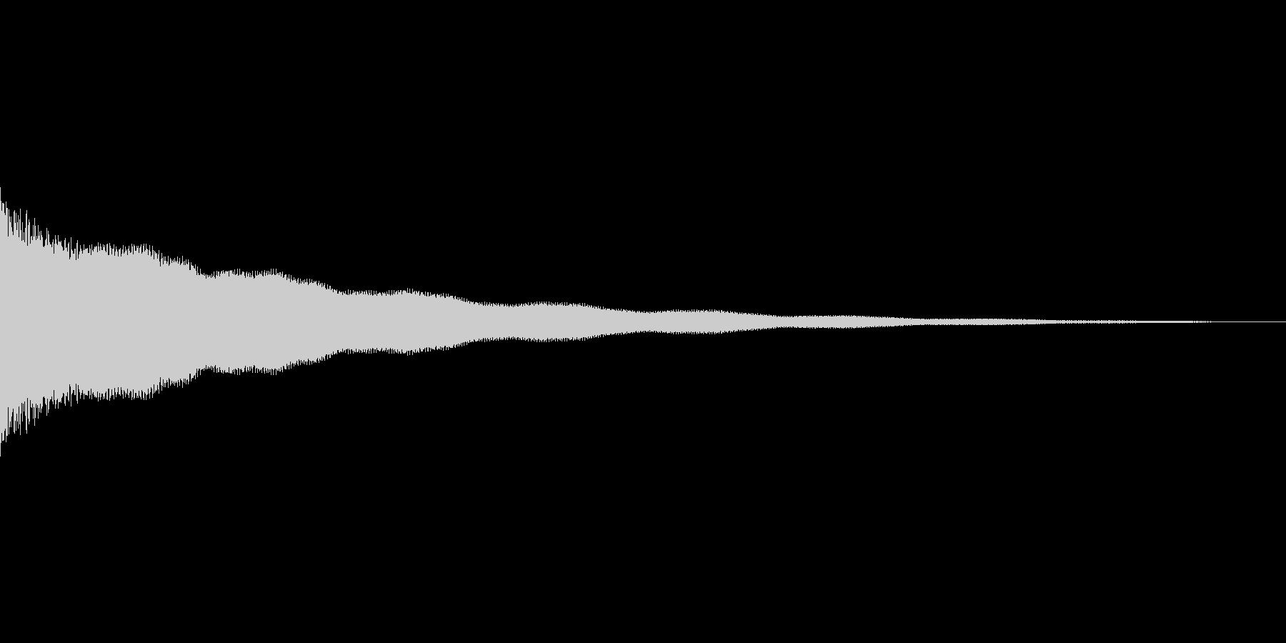 コーンの未再生の波形